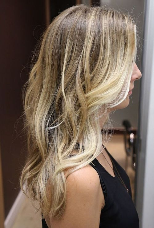 Long Haircut + Balayage Highlights
