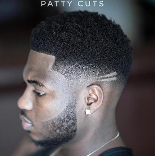 Black Skin Fade With Facial Hairstyle