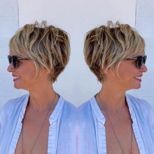 easy short hairstyles for thin hair over 50