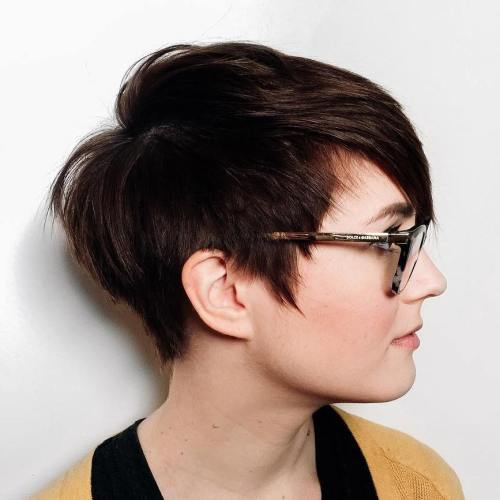 cute short haircuts for round faces 40 looks with hairstyles for faces 1143 | 1 edgy pixie haircut