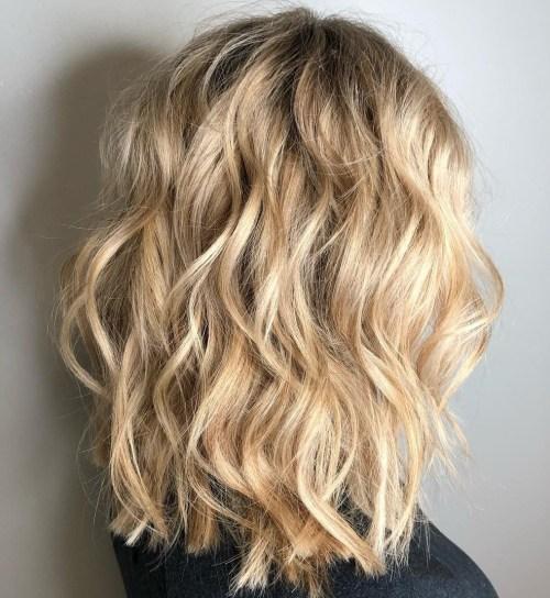 Medium Choppy Cut For Wavy Hair