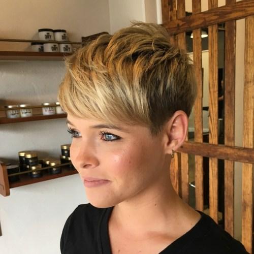 Pixie With Textured Crown And Bangs