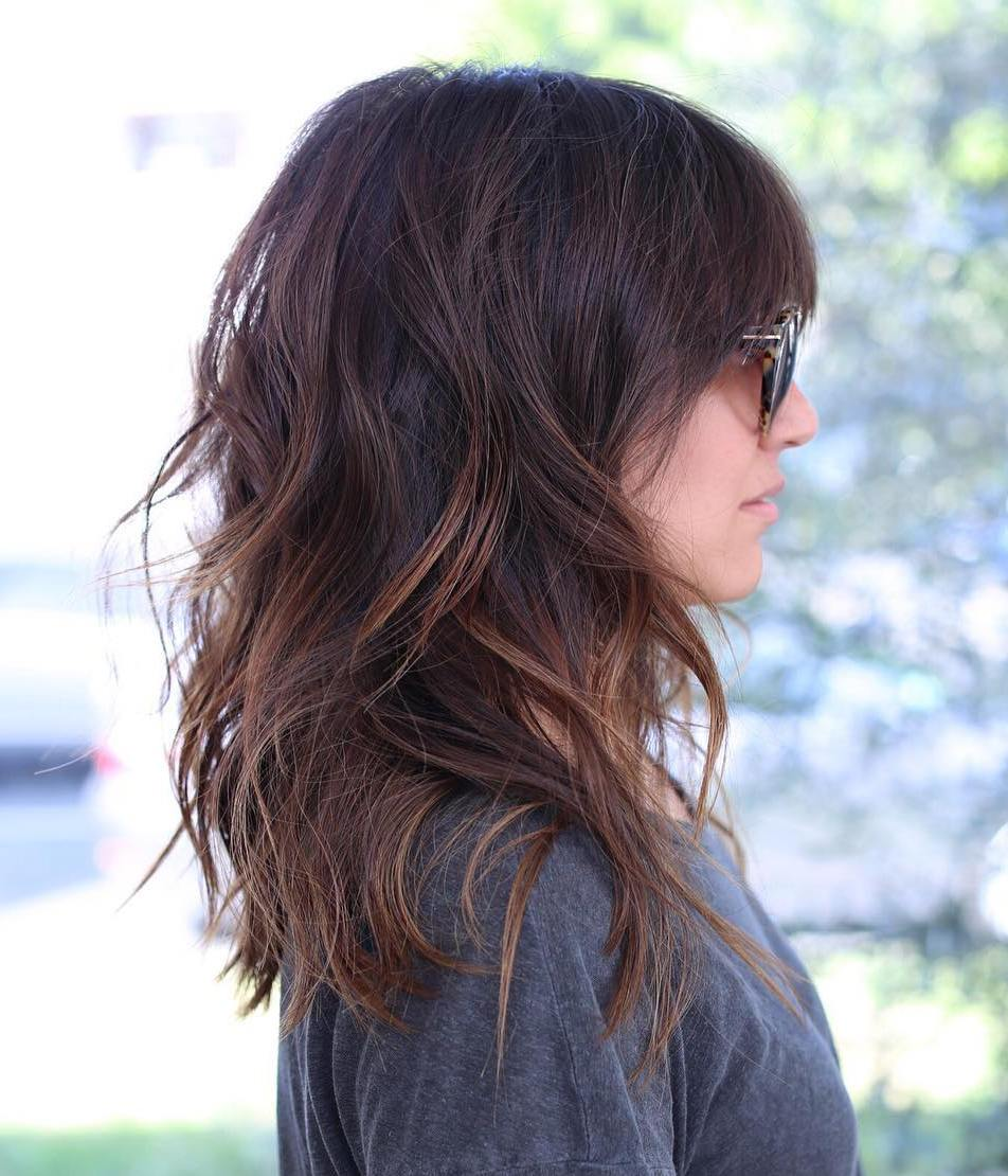 Superb Shoulder Length Layered Hairstyle