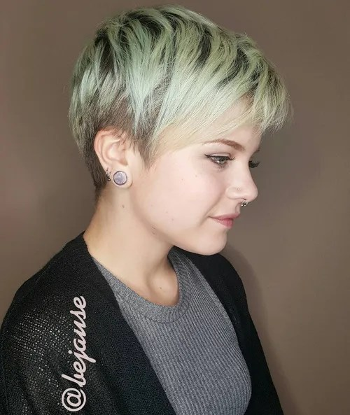 Brown And Blonde Pixie