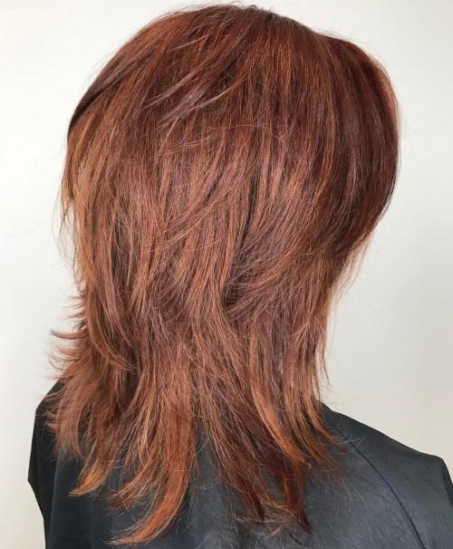 Easy Mid-Length Shag Hairstyle