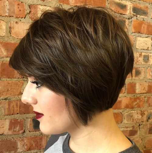 Feminine Shaggy Jaw-Length Bob