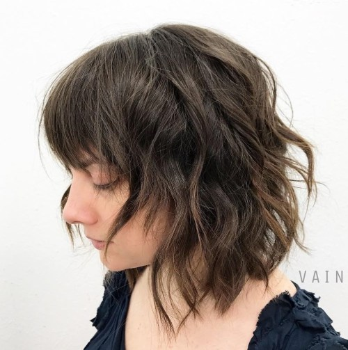 Medium Wavy Razored Cut