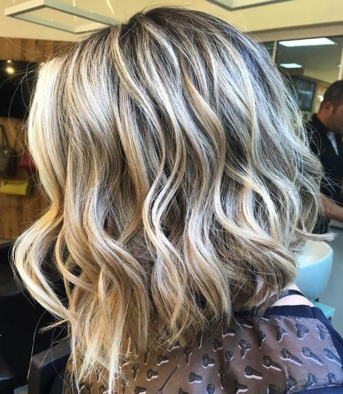 Blonde Lob For Thick Hair