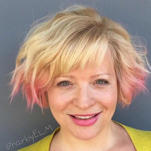 Short Shaggy Wavy Hairstyle With Bangs
