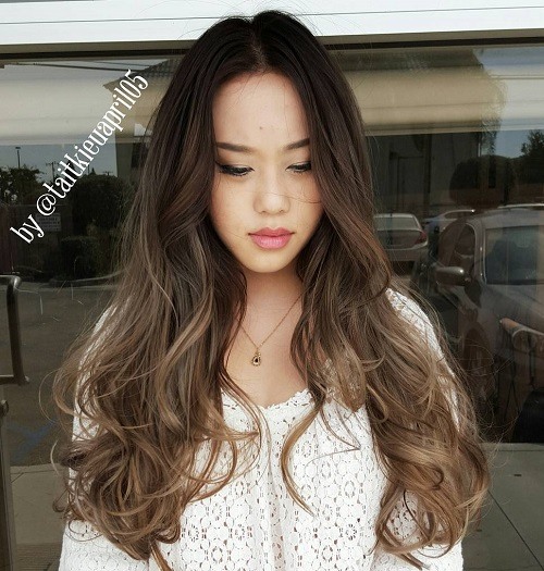 Curly Ash Brown Ombre Hair
