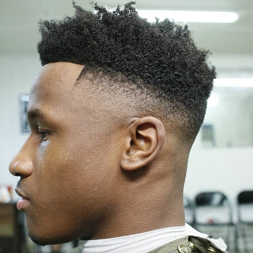High Top Afro Fade