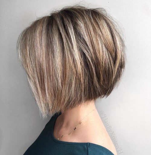 Angled Choppy Bob For Straight Thick Hair