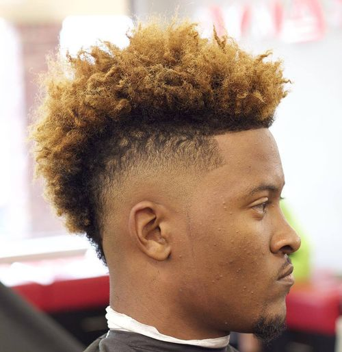 blonde natural mohawk for black men