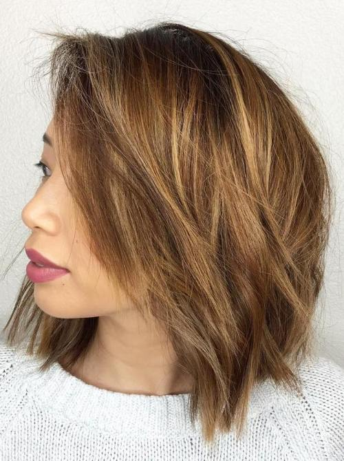 Chopped Side-Parted Bob