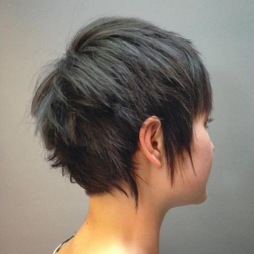 Choppy Ash Brown Pixie