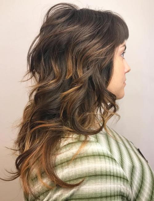 Long Curly Shag Cut