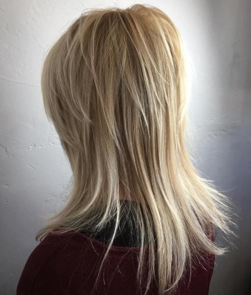 40 most universal modern shag haircut solutions medium blonde layered hairstyle urmus Choice Image