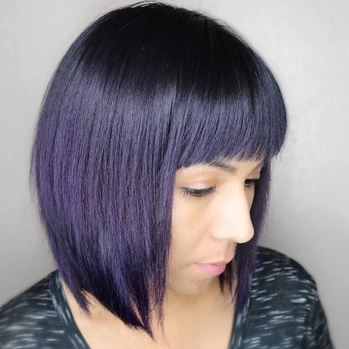 Sleek Bob With Straight Bangs