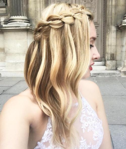 Bridal Braided Half Updo