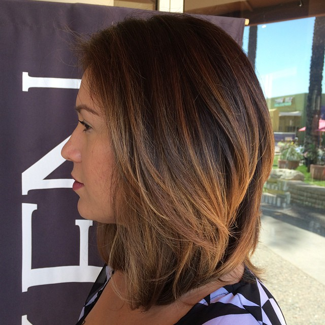 Medium Asian Balayage Hairstyle