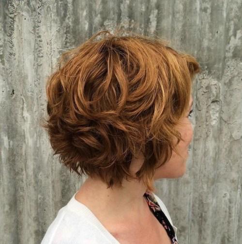 Short Layered Wavy Hairstyle