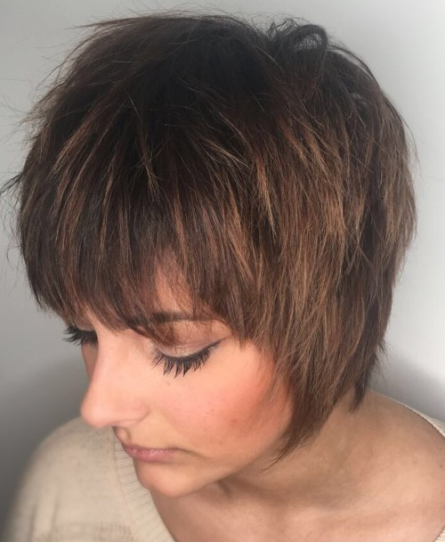 60's Inspired Short Shag Haircut