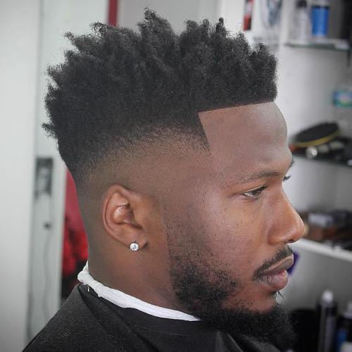 50 stylish fade haircuts for black men in 2018 26 perfect fade for long top winobraniefo Gallery