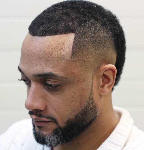 trendy black men's haircut