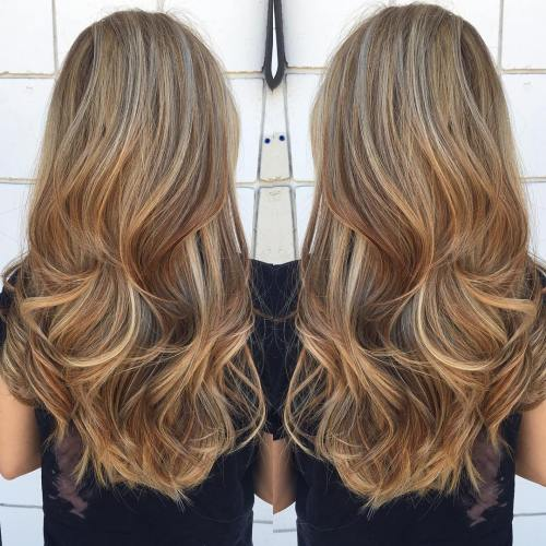 Long Caramel Blonde Hair