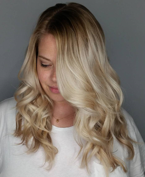 Medium Blonde Balayage Hairstyle