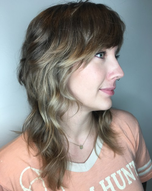 Shag With Bangs For Wavy Hair