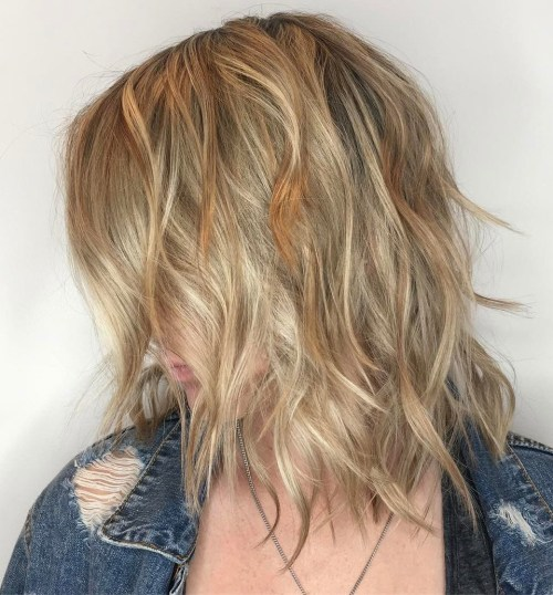 Medium Wavy Shaggy Haircut For Fine Hair