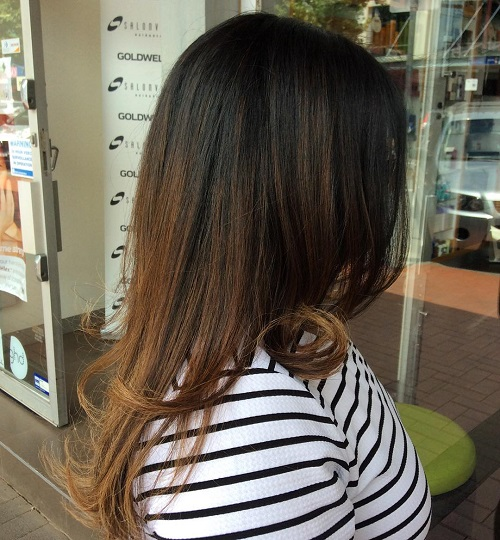 Straight Brown Ombre Hair