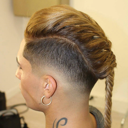 Braided Long Top Short Sides