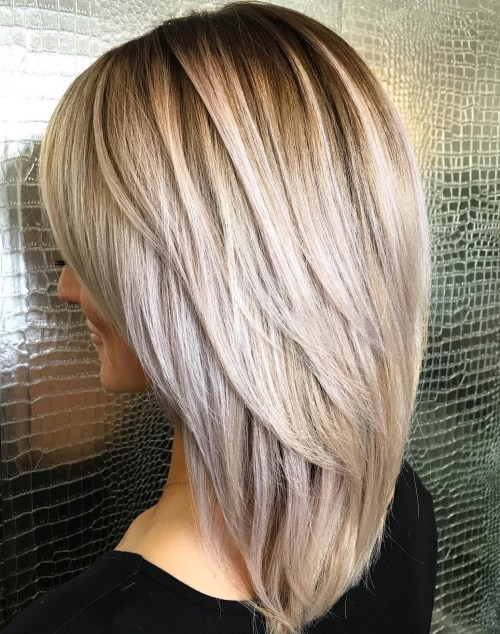 Medium Haircut With Long V-Cut Layers