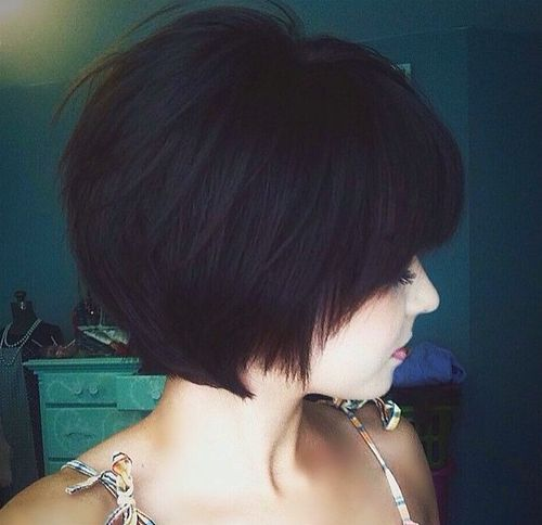 short angled haircut