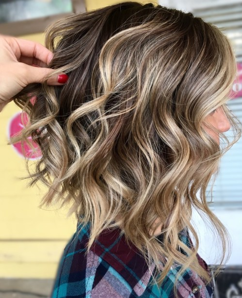 Lob Hairstyle For Thick Curly Hair