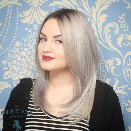 Medium Ash Blonde Layered Hairstyle