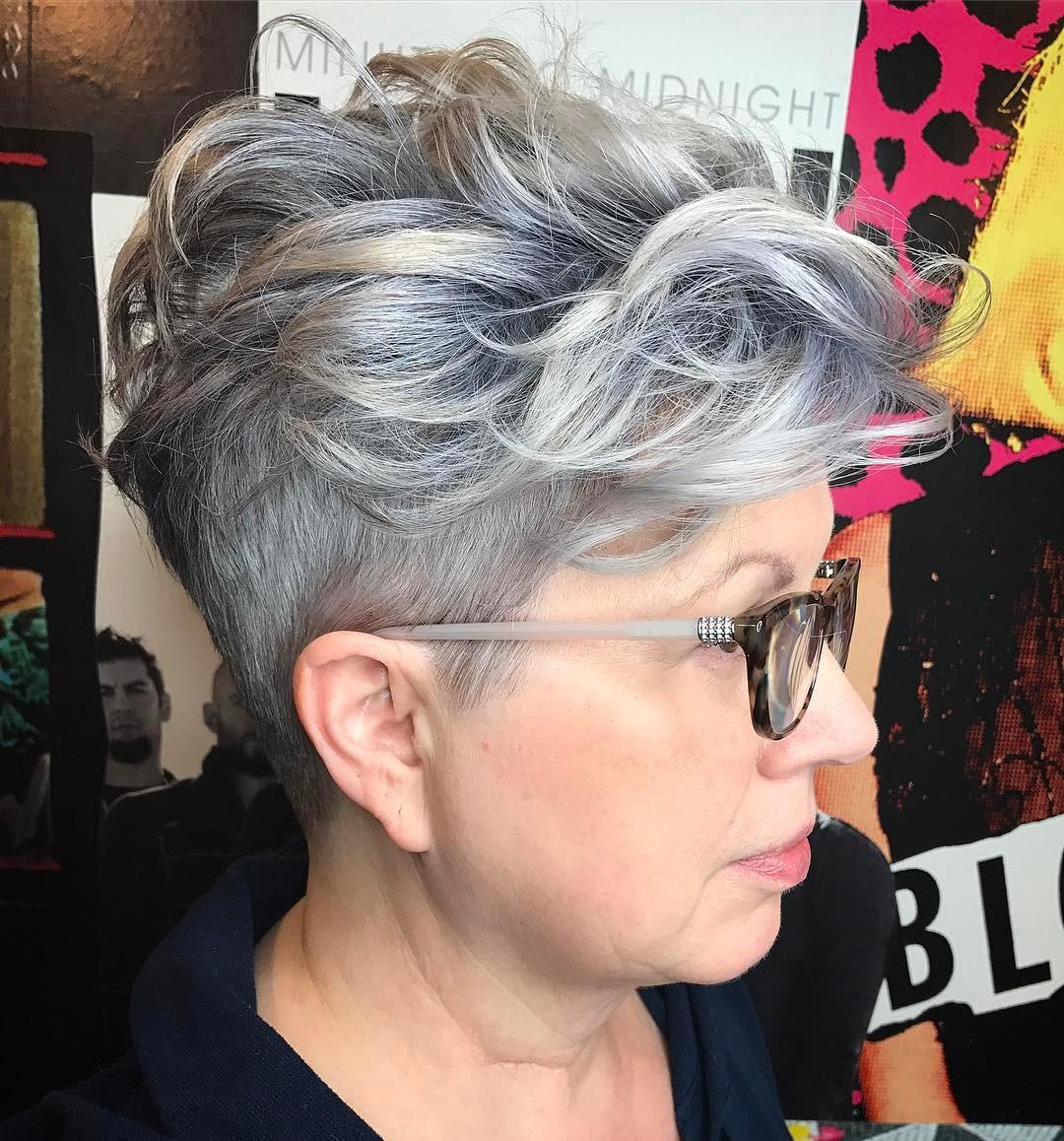 short undercut hairstyles for older ladies