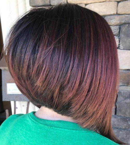 Inverted Angled Bob For Straight Hair