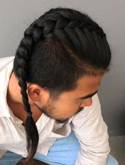 Men's Inverted Braid With Short Sides