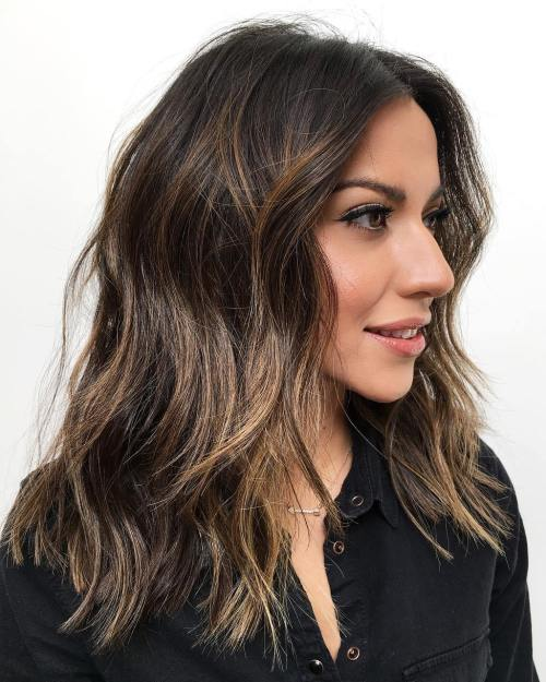 Hairstyle With Caramel Highlights