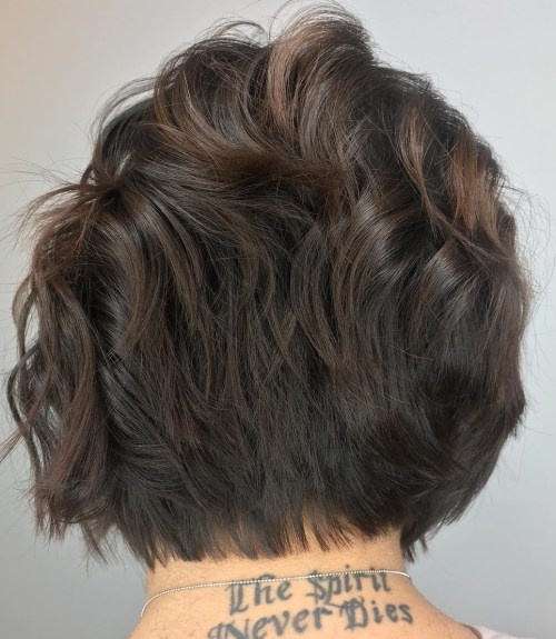 Short Layered Brown Bob