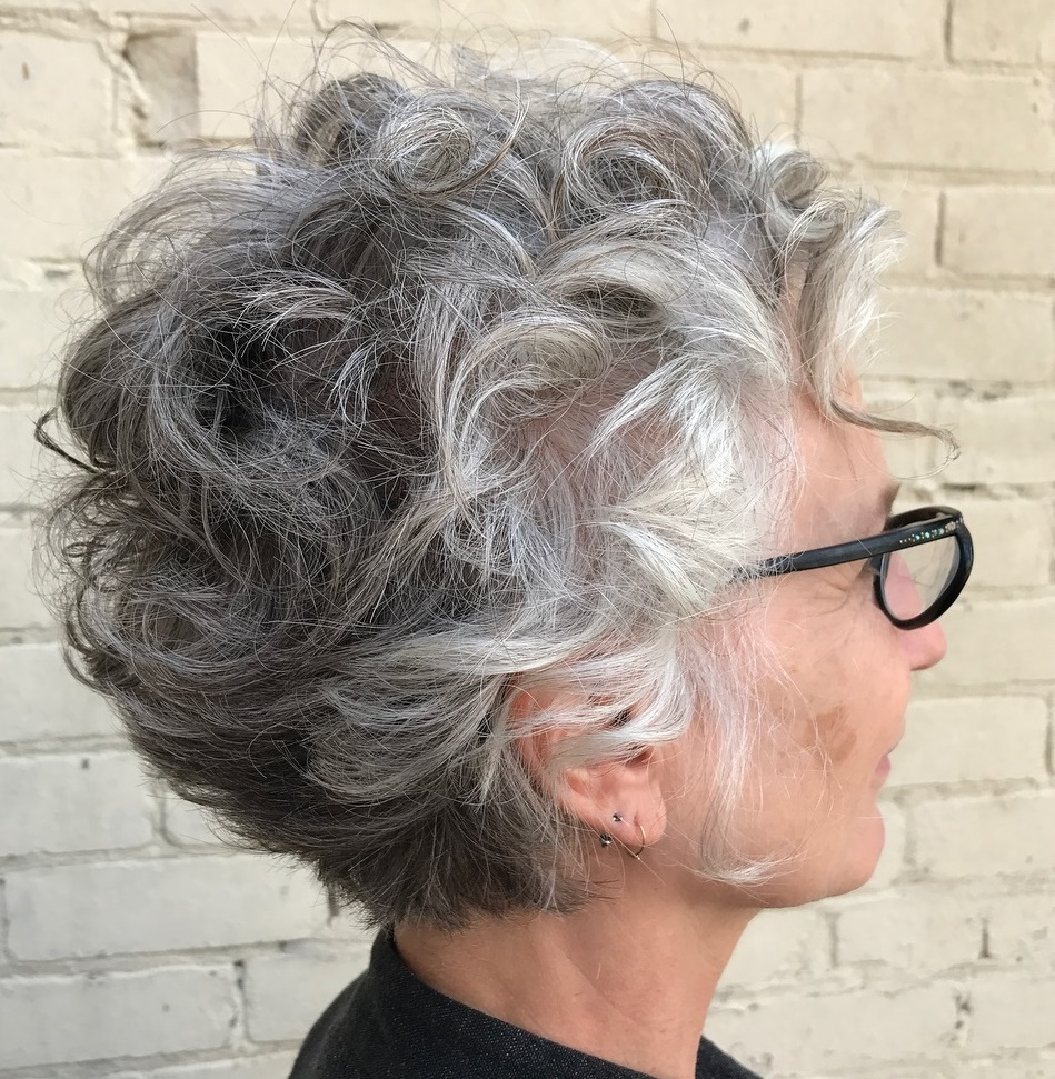 Mature hair cut style
