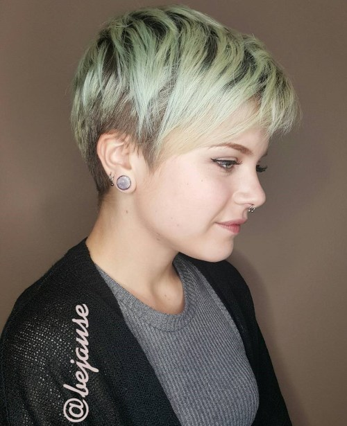 Undercut Pixie For Women With Round Faces