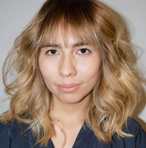 light bangs for round face
