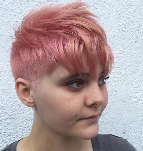 Choppy Pastel Pink Pixie