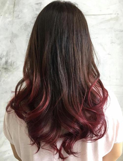 dip dye hair black to brown - photo #1