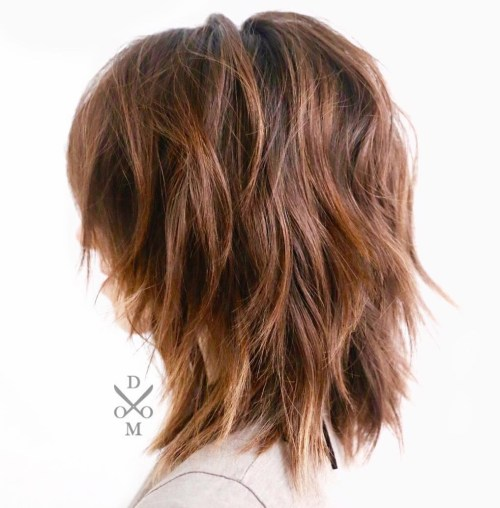 Mid Length Layered Hairstyles For Thick Hair 17