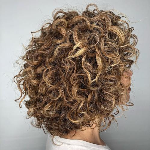different curly hair styles 65 different versions of curly bob hairstyle 3754 | 5 medium tousled curly caramel hairstyle